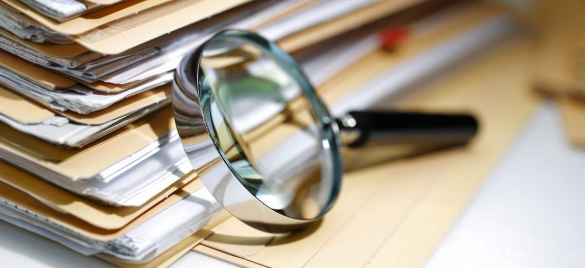 document magnifying glass